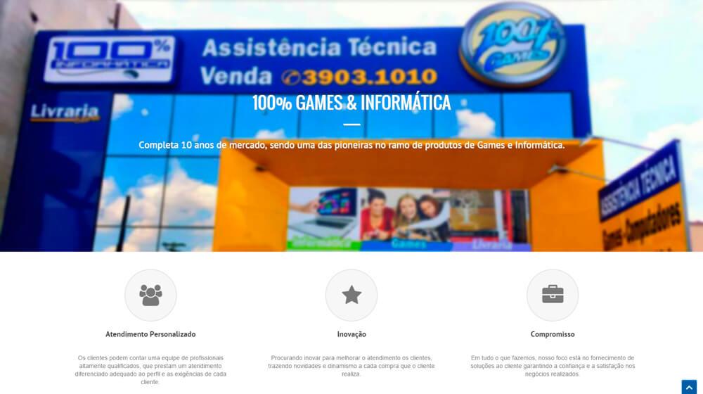 Página da empresa