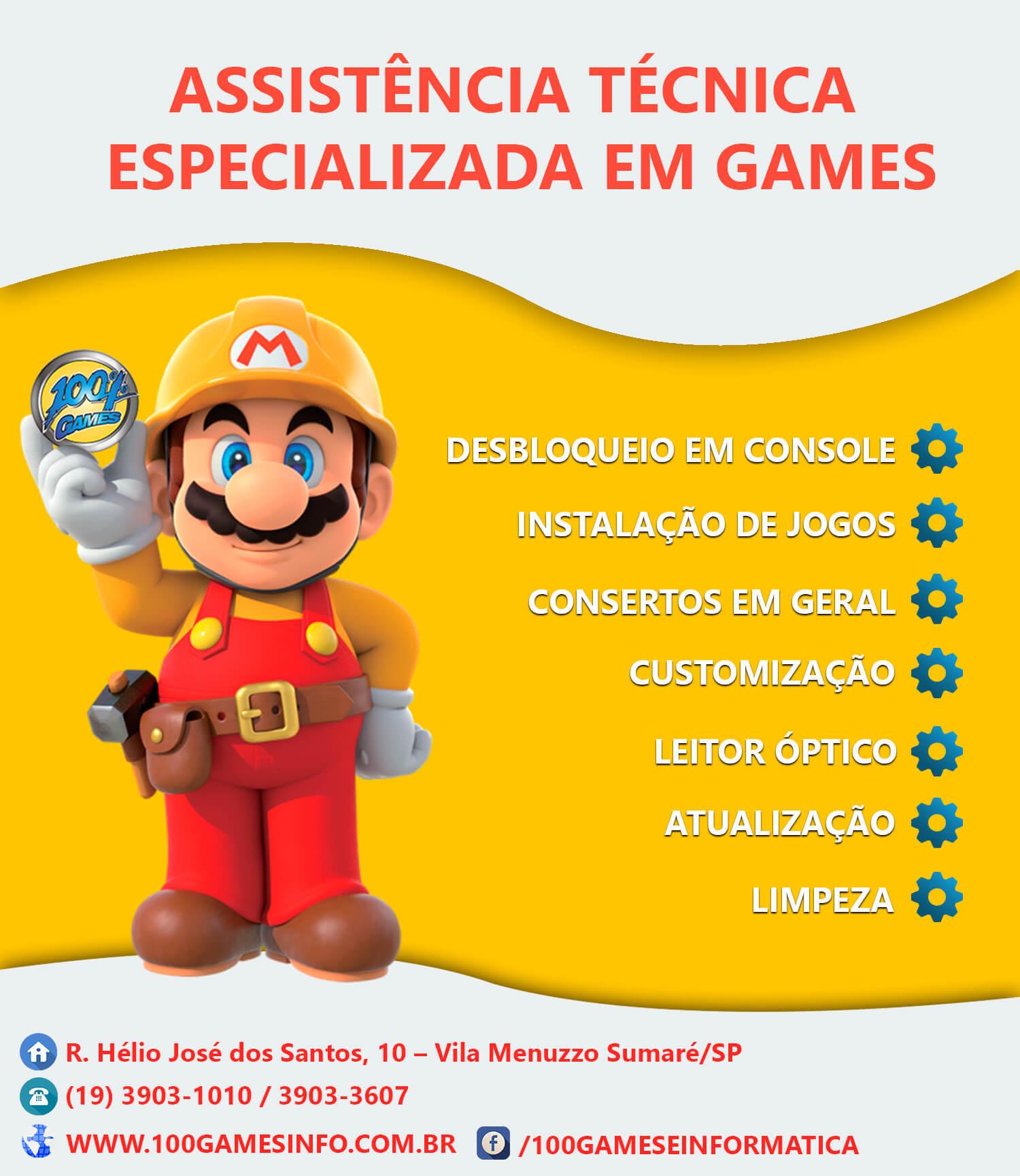 Banner para Promover a Assistência da 100% Games