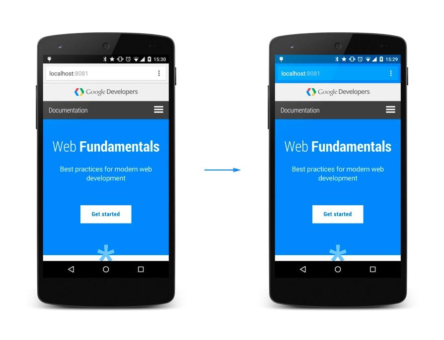 Personalize a barra de navegação do seu site com theme-color do HTML5