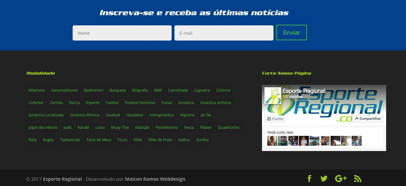 Customização rodape wordpress