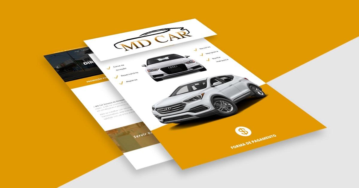 Site MD Car Sistema de Direção